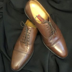 Cole Haan Brown Cap Toe Leather Oxfords Size 8 1/2